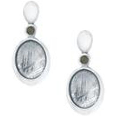 Muonionalusta Meteorite & Moldavite Sterling Silver Earrings