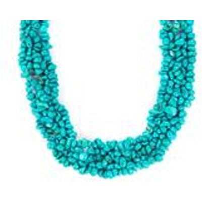 Turquoise Necklace in Sterling Silver 662cts