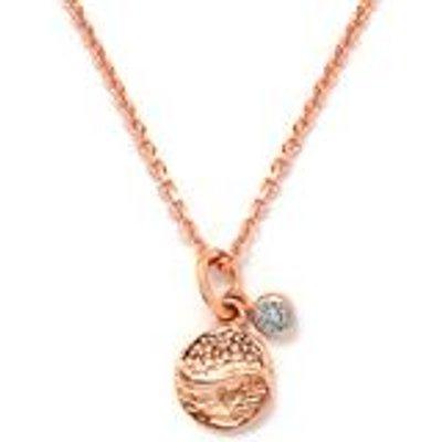 Diamond Rose Gold Vermeil Pendant Necklace