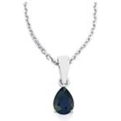 Blue Sapphire Pendant Necklace in Sterling Silver 0.85ct