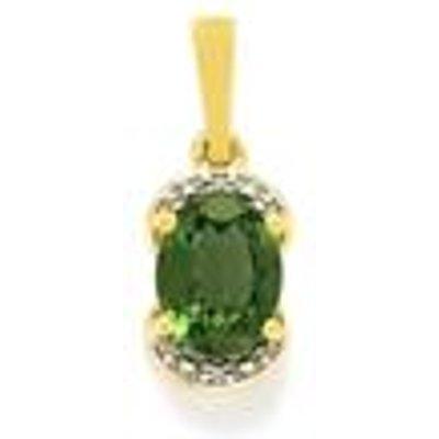 Mandrare Green Apatite & Diamond 9K Gold Pendant ATGW 1.88cts