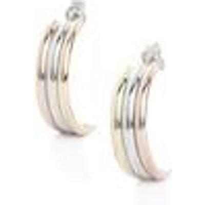 9K Three Tone Gold Earrings