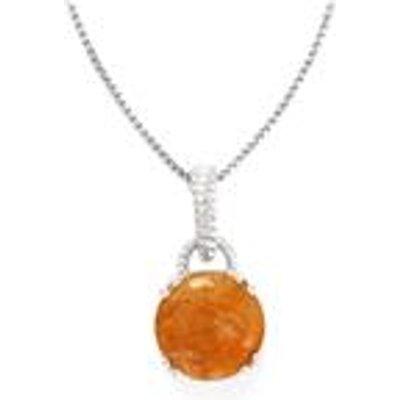 5.84ct Rutile Quartz Sterling Silver Pendant Necklace