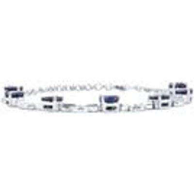 Madagascan Blue Sapphire & White Topaz Sterling Silver Bracelet ATGW 12.44cts