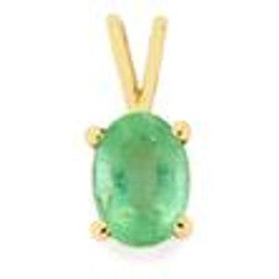 Siberian Emerald Pendant in 9K Gold 0.75cts