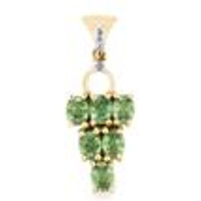 Ambanja Demantoid Garnet Pendant with Diamond in 9K Gold 1.44cts