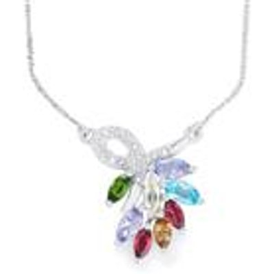 Exotic Gems Necklace Sterling Silver 2.47cts