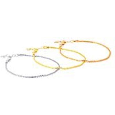 Set of 3 Criss Cross Bracelet in Sterling Silver