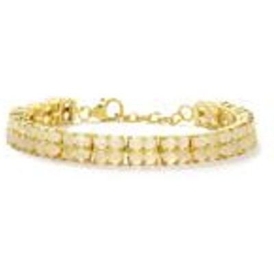 22.07ct White Moonstone Gold Plated Sterling Silver Bracelet
