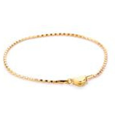 7.5 Gold Plated Sterling Silver Bracelet with Magnetic Clasp 2.2g