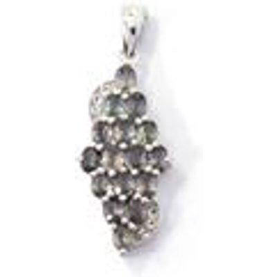 Tunduru Colour Change Sapphire & White Topaz Sterling Silver Pendant ATGW 2.41cts