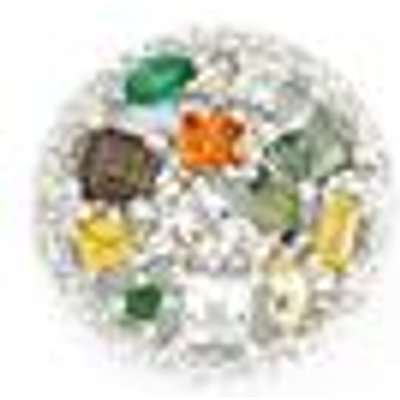 Multi-Colour Gemstone Sterling Silver Pendant ATGW 1.75cts
