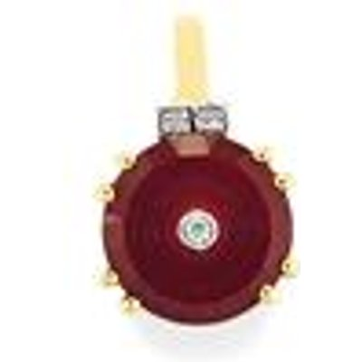 Lehrer TorusRing Madagascan Ruby Pendant with Diamond in 9K Gold 6.40cts (F)