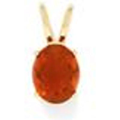 1.91ct Orange AA American Fire Opal 9K Gold Pendant