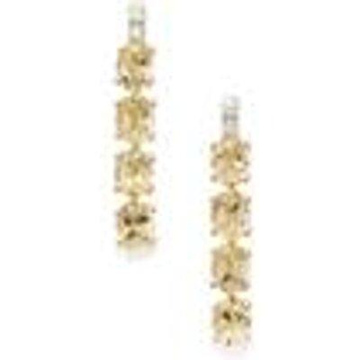 Ouro Preto Imperial Topaz & White Zircon 9K Gold Earrings ATGW 2.87cts