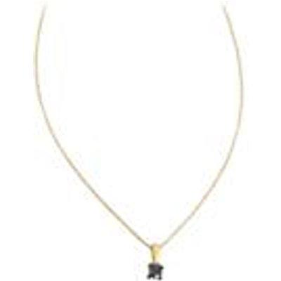 1/8ct Blue Diamond 9K Gold Pendant Necklace