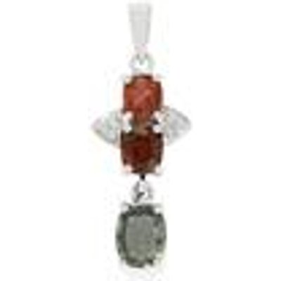 Burmese Multi-Colour Spinel Pendant with White Topaz in Sterling Silver 2.55cts