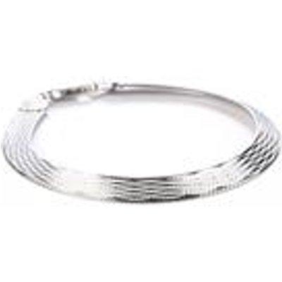 7.5 Sterling Silver Herringbone Bracelet 8.8g