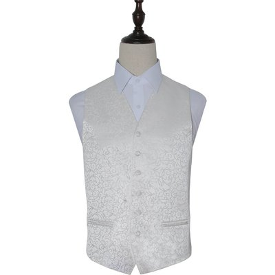 Ivory Swirl Patterned Wedding Waistcoat 46