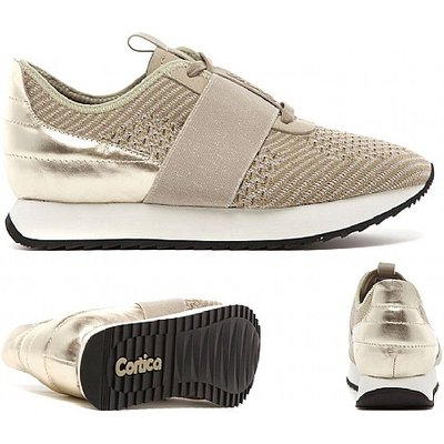 Womens Racer Strap Knit Runner Trainer