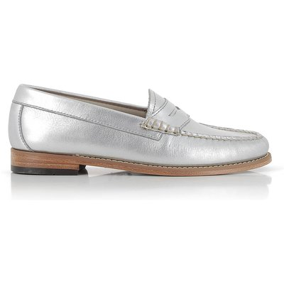 Weejuns Penny Loafer Metallic Silver