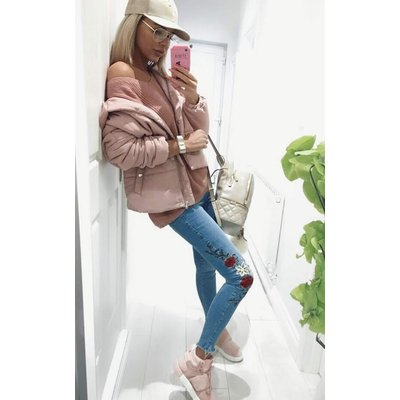IKRUSH Womens Sabsi Embroidered Skinny Jeans