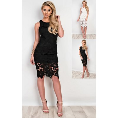 IKRUSH Womens Brittanie Lace Bodycon Dress