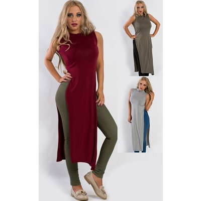 IKRUSH Womens Darcy Side Split Midi Dress