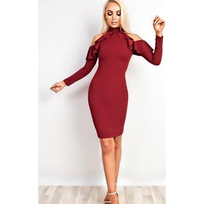 IKRUSH Womens Niki Frill Bodycon Dress