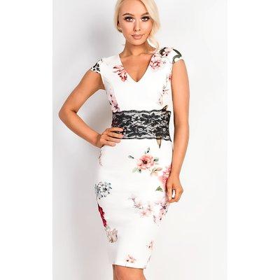 IKRUSH Womens Abbie Floral Midi Dress