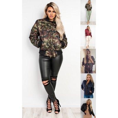 IKRUSH Womens Shani Bomber Jacket