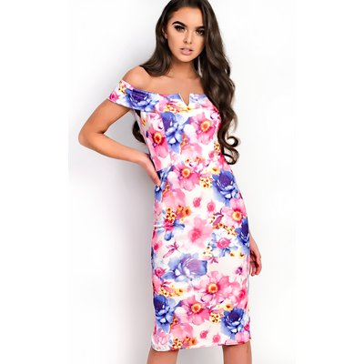 IKRUSH Womens Emile Bardot Floral Midi Dress