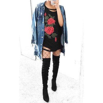 IKRUSH Womens Kris Distressed Denim Jacket