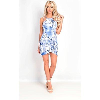 IKRUSH Womens Amber Multi Strap Porcelain Floral Mini Dress