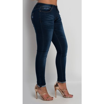 IKRUSH Womens Abigail Sequin Skinny Jeans