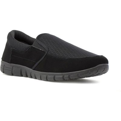 Tick Mens Black Mesh Slip On Shoe