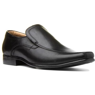 Red Tape Mens Black Leather Slip On Shoe