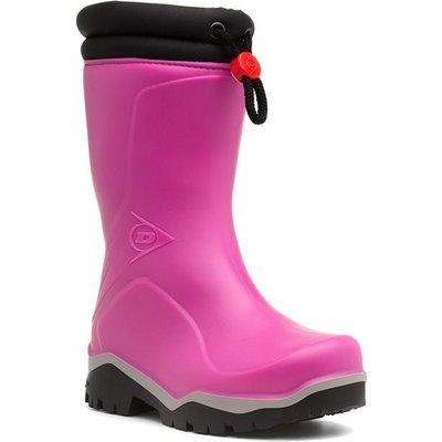 Dunlop Girls Pink Warm Lined Wellington Boot