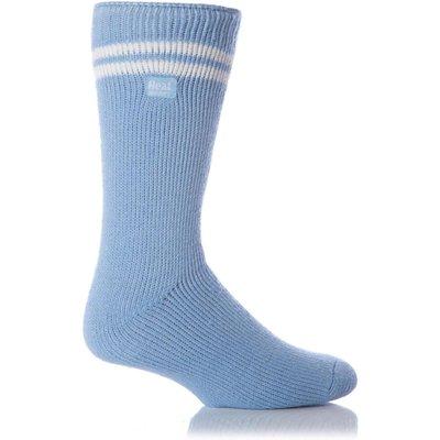 Mens 1 Pair Heat Holders For Football Fans Socks In Light Blue