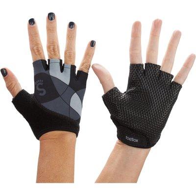Mens and Ladies 1 Pair ToeSox Yoga Half Finger Grip Gloves, Black