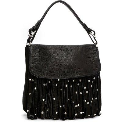 Fabienne Chapot-Handbags - Pauline Bag Star Stud Fringes - Black