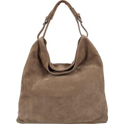 Fred de la Bretoniere-Handbags - Shoulderbag Large Suede - Taupe