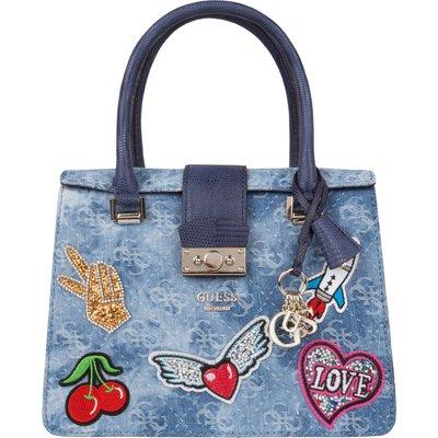 Guess-Handbags - Elia Small Satchel - Blue