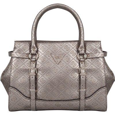 Guess-Handbags - Daniella Satchel - Silver