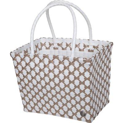 Handed By-Handbags - Havana Shopper - White