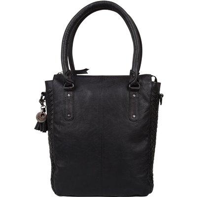 Legend-Handbags - Shopper Weave Fabienne  - Black
