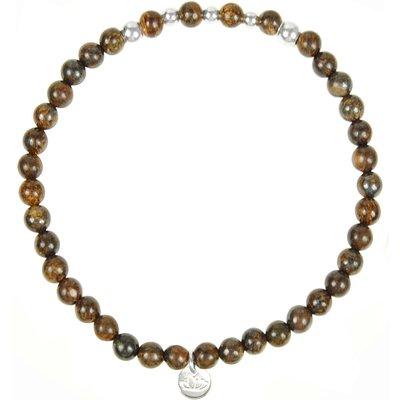 MAS Jewelz-Bracelets - Armband Bronziet Beads - Silver