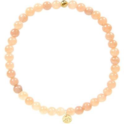 MAS Jewelz-Bracelets - Armband Jade Mocha Plain - Gold