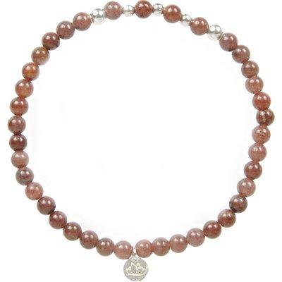 MAS Jewelz-Bracelets - Armband Paarse Aventurijn Beads - Silver