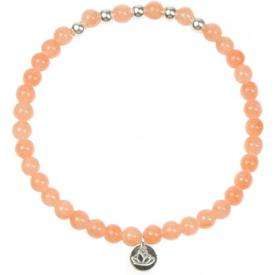 MAS Jewelz-Bracelets - Armband Jade Perzik Beads - Orange